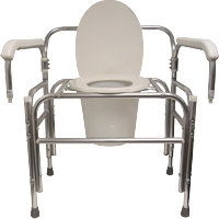 Model 724DAU Bariatric Droparm Bedside Commode