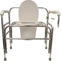 Model 724dal Bariatric Bedside Commode With Swing Away