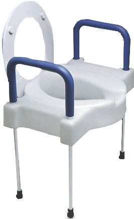 Extra Wide Elevated Toilet Seat