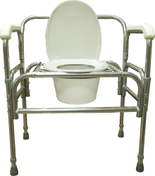 Model 724A Bariatric Bedside Commode with adjustable seat height
