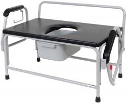 Model 736DAU-E Bariatric Droparm Bedside Commode
