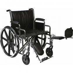 Model PB-WC72620DE Bariatric Wheelchair - Capacity 600 lbs.