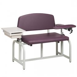 Clinton Lab X Series, Bariatric, Blood Drawing Chair with Drawer
