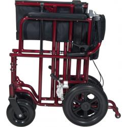 Bariatric Transport Chair DR-ATC22-R Folded