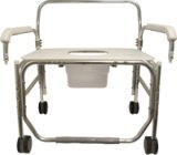 Model 1328XDP-DAU Transport Shower Chair with Pail and Swing Away Arms